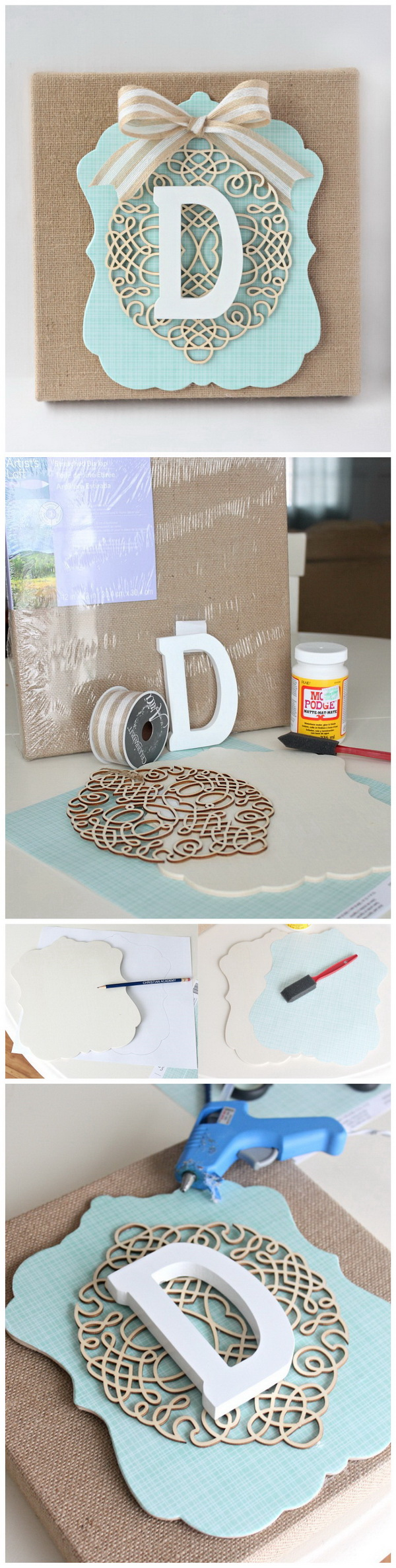 20+ Pretty DIY Decorative Letter Ideas & Tutorials ...
