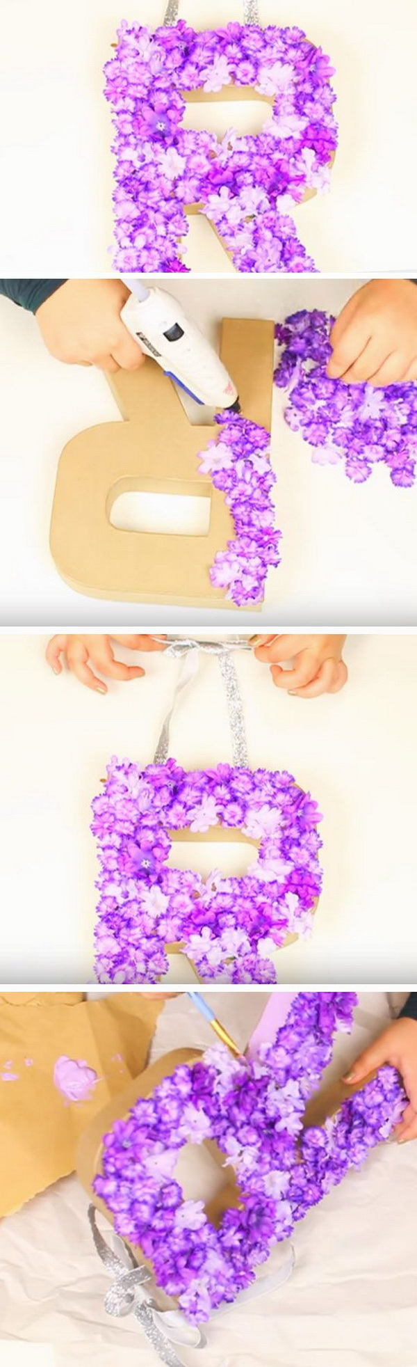 20 pretty diy decorative letter ideas tutorials for Summer craft ideas for adults