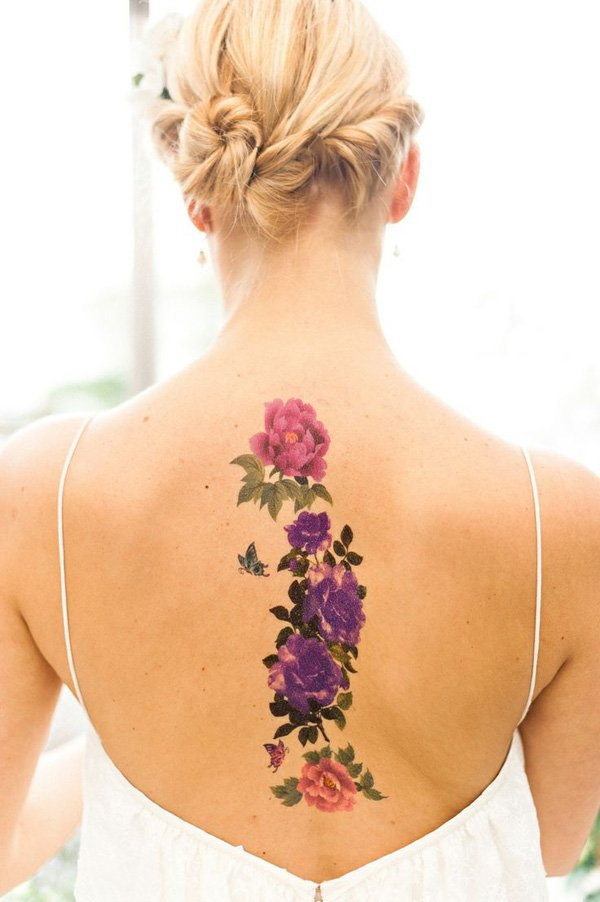 Flower Back Tattoo. 30+ Beautiful Flower Tattoo Designs.