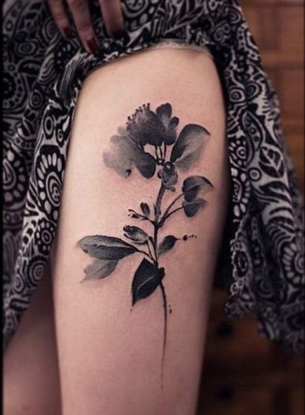 30 beautiful flower tattoo designs listing more for Black and grey tattoo designs