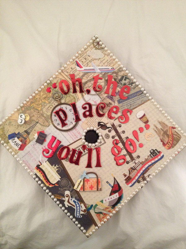 Graduation Cap Decoration with Vintage Charm.