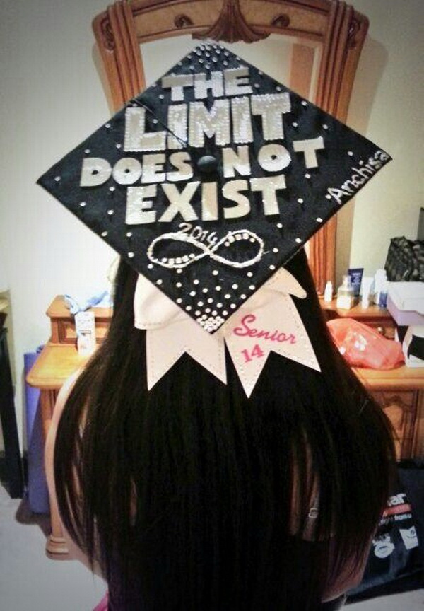 Black and White Graduation Cap.