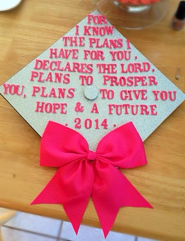 Bible Verse Graduation Cap & 65+ Gorgeous Graduation Cap Decoration Ideas - Listing More