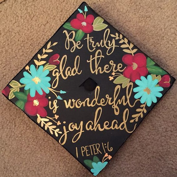 Decorated Graduation Cap & 65+ Gorgeous Graduation Cap Decoration Ideas - Listing More