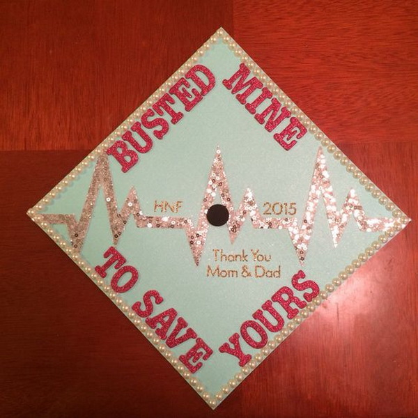 Bling Decorated Graduation Cap.