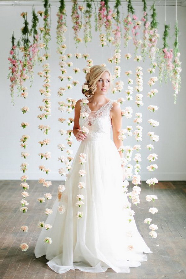Romantic Floral Inspiration Photo Booth for Wedding.