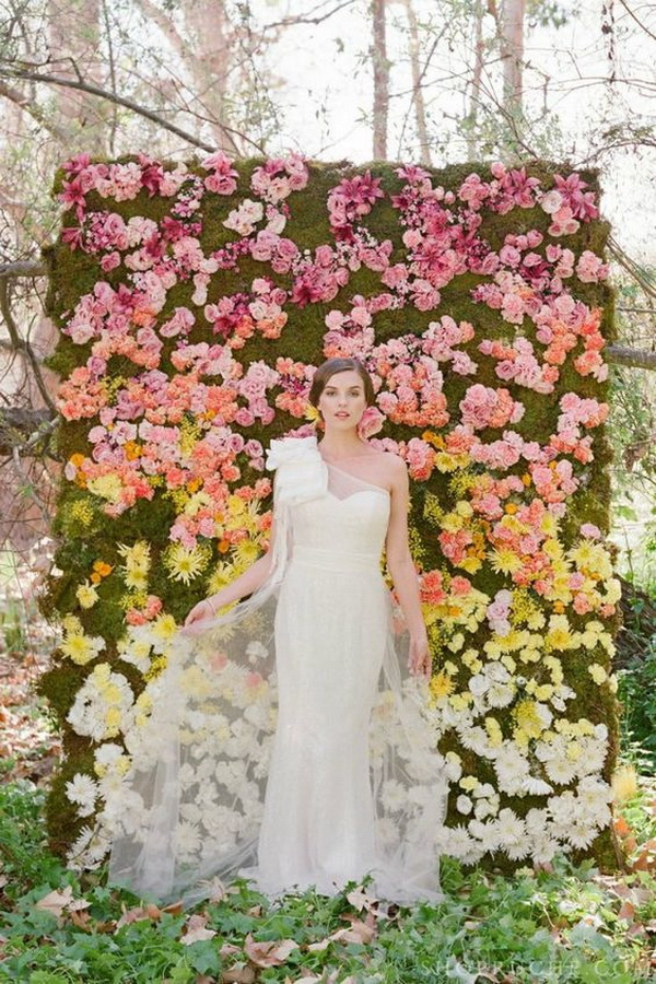 Flower Wall Photo Booth Backdrop.