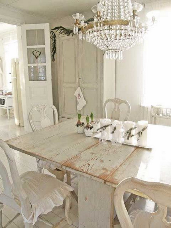 35+ Beautiful Shabby Chic Dining Room Decoration Ideas