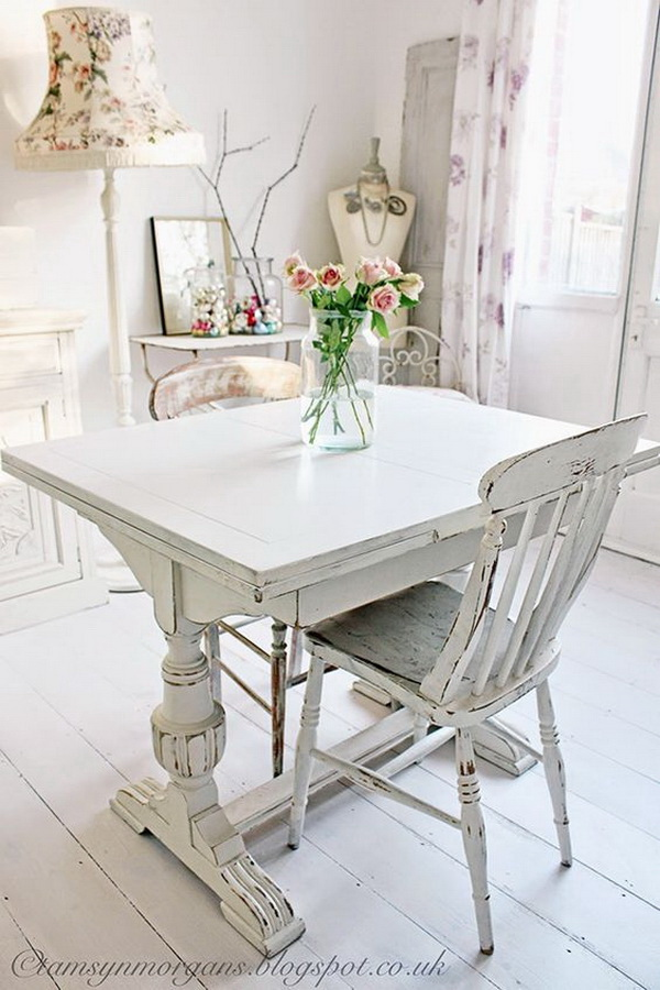 Vintage Shabby Chic   Vintage White Floors, Tables And Chairs. Part 52