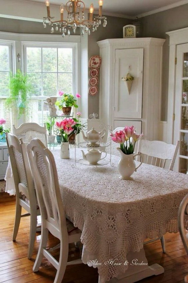 Beautiful Shabby Chic Dining Area.