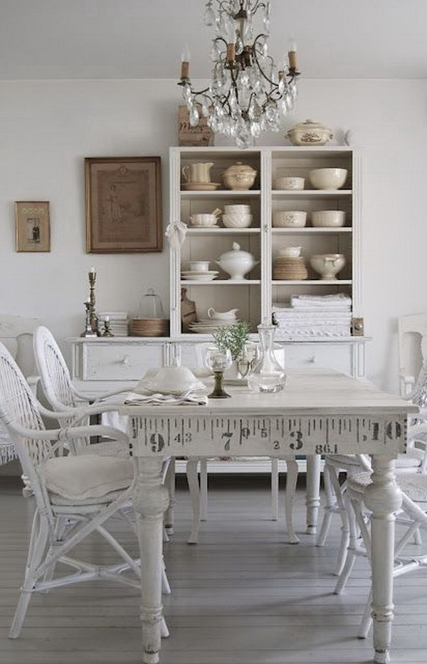 35 Beautiful Shabby Chic Dining Room Decoration Ideas  : 8 shabby chic dining rooms from www.listingmore.com size 600 x 932 jpeg 145kB