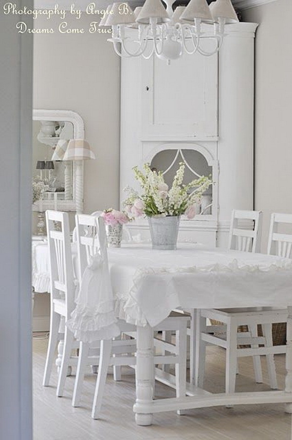 35+ beautiful shabby chic dining room decoration ideas - listing more, Wohnzimmer