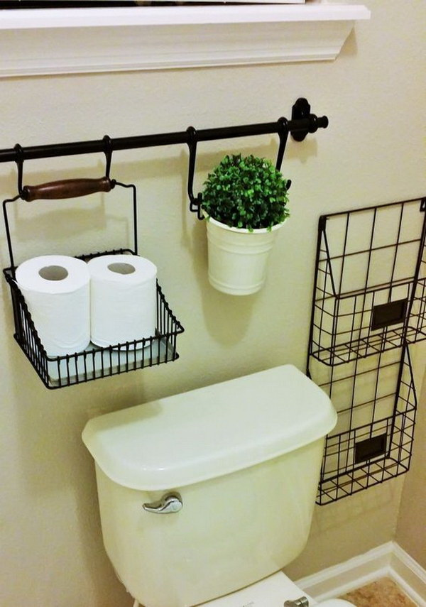 Bathroom storage cabinet above toilet - Awesome Over The Toilet Storage Amp Organization Ideas