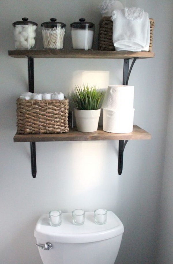 Genial Over The Toilet Storage Wall Mount Opening Shelves