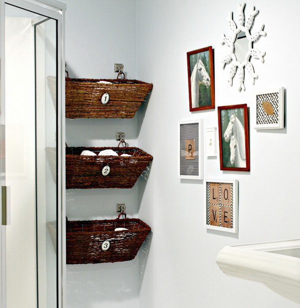 Hanging Window Box Bathroom Storage.