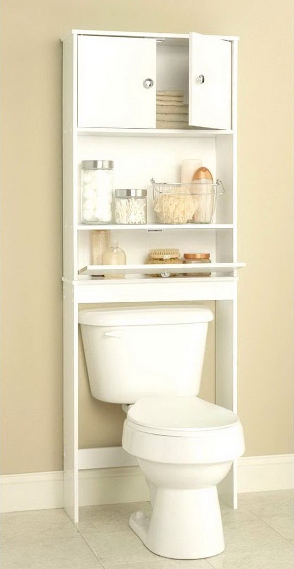 White Spacesaver with Cabinet and Drop Door.