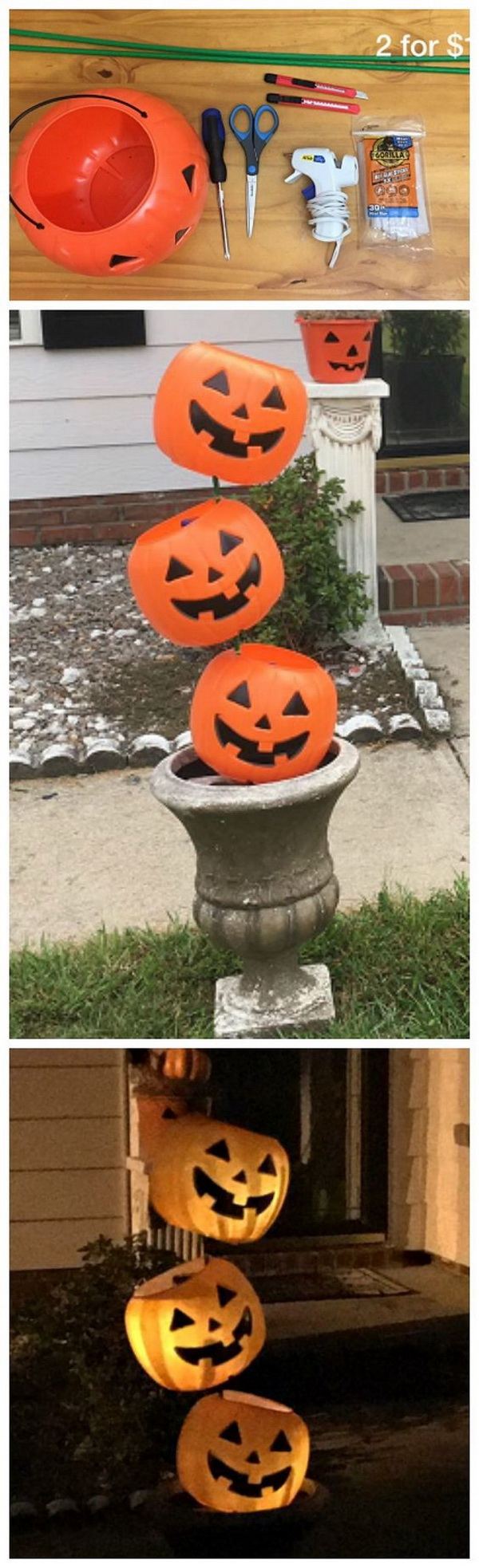 30 homemade halloween decoration ideas listing more tipsy plastic pumpkin decoration another stunning diy decoration idea for your front porch for this solutioingenieria Images