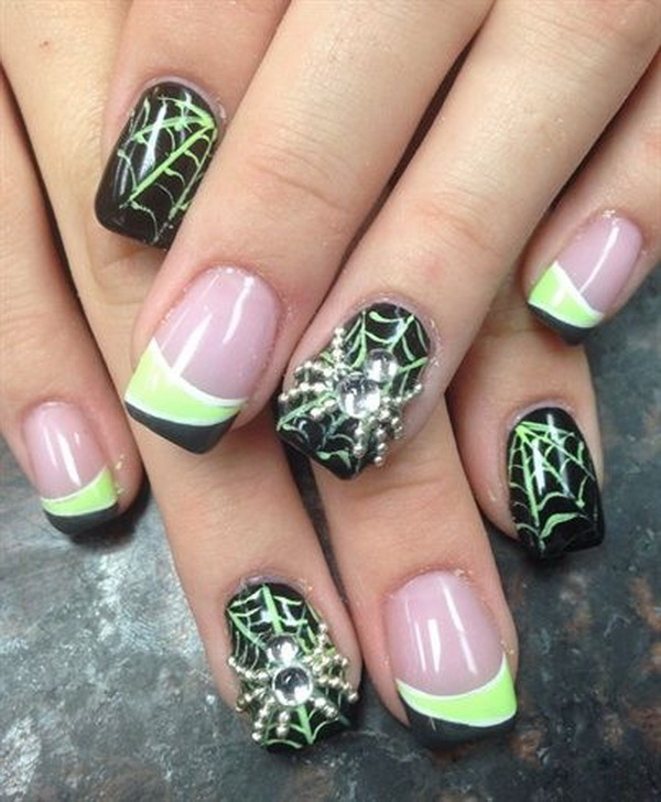 Halloween Nail Art Design Images