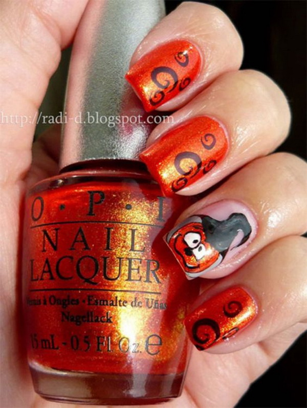 Cute Fingernail Designs for Halloween.