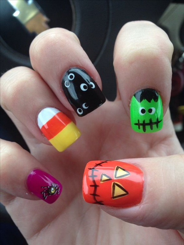 Cute Halloween Nail Designs - 40+ Cute And Spooky Halloween Nail Art Designs - Listing More
