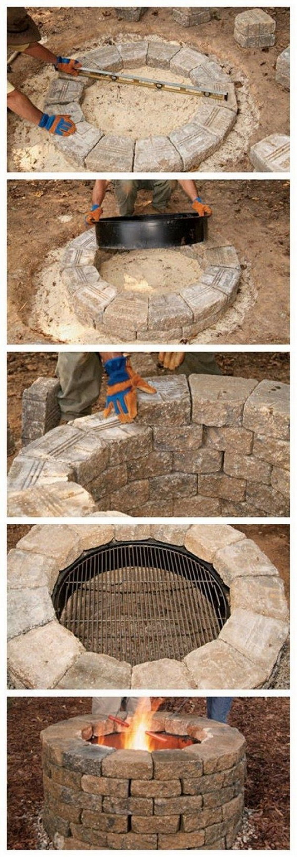 DIY Backyard Fire Pit.