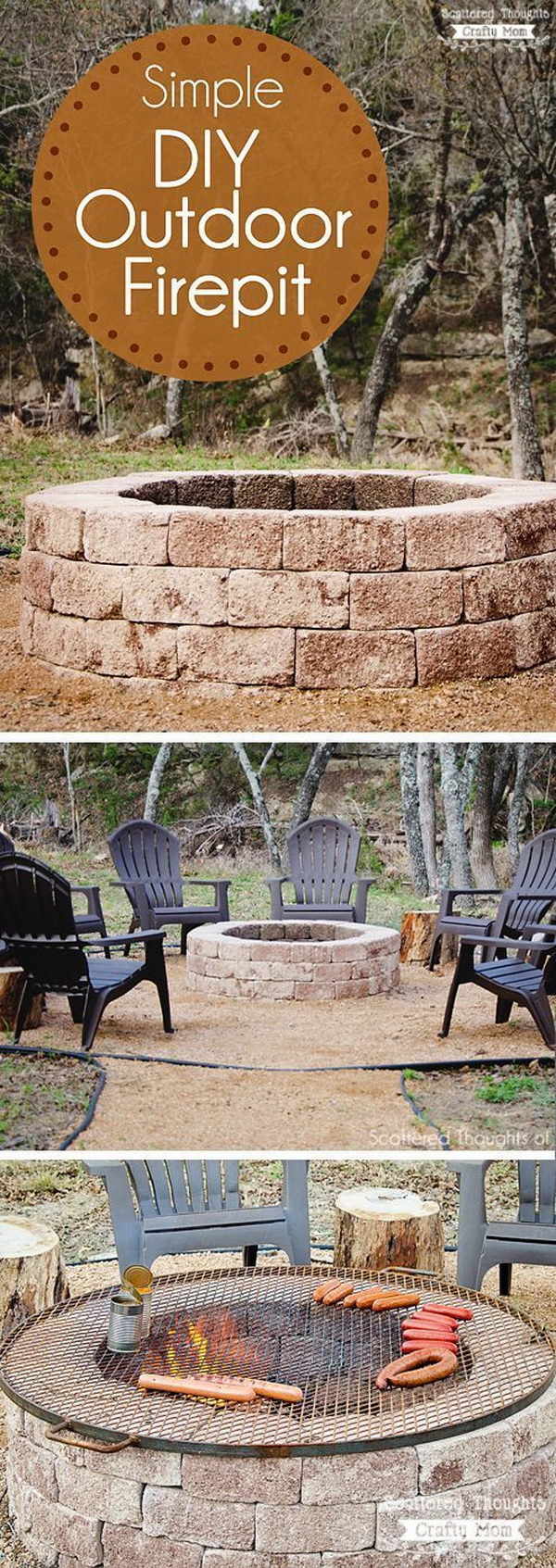 20 diy fire pits for your backyard with tutorials listing more