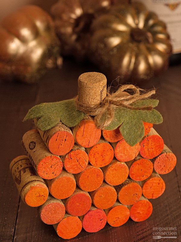 Handmade Wine Cork Pumpkin. This handmade pumpkin is made out of recycled wine corks and is embellished with just a little paint. The adorable table decoration you can enjoy year after year. It's quick and easy to make.