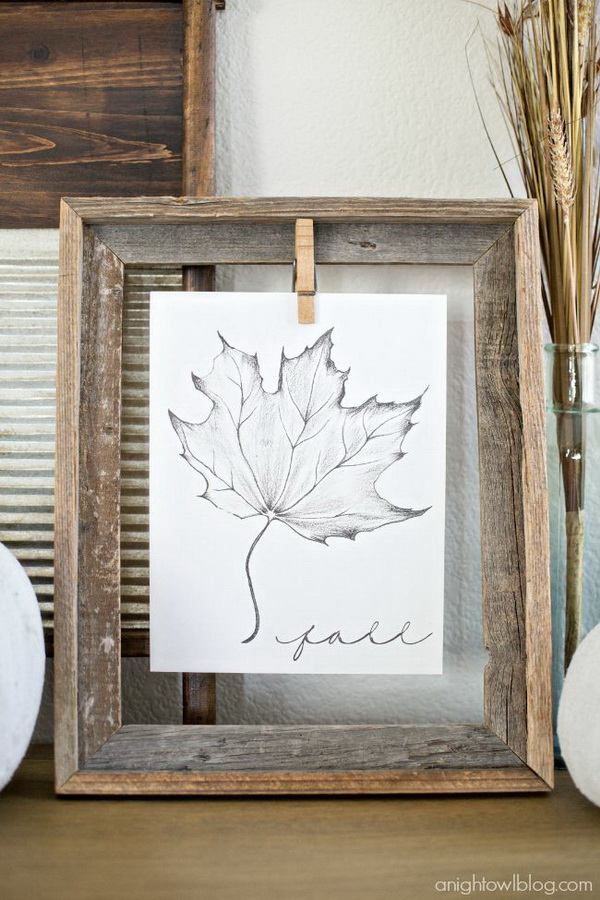 Maple Leaf Sketch Framed Art. Print out this gorgeous Maple Leaf sketch by Australian artist Raura and display it with an old frame. It will be the perfect addition to your home home this fall season.