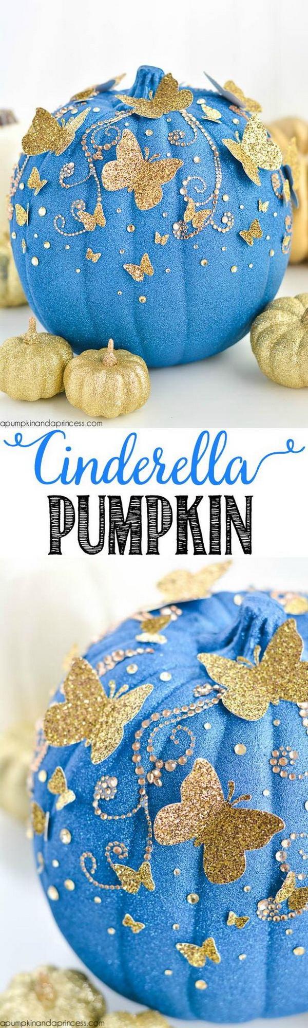 DIY Cinderella Butterfly Pumpkin.