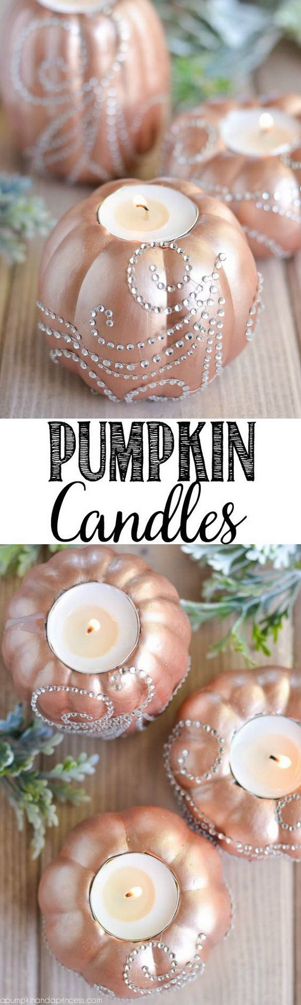 DIY Pumpkin Candles.