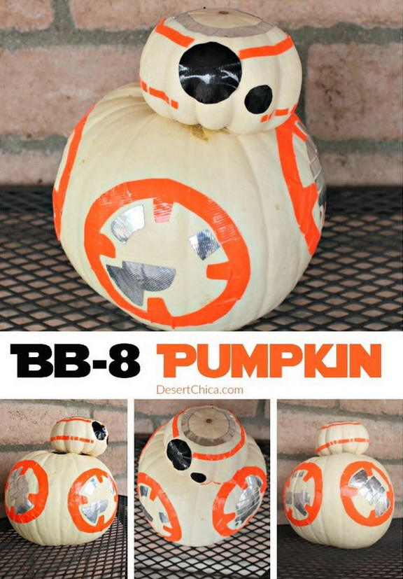 Easy BB-8 Pumpkin For Halloween.