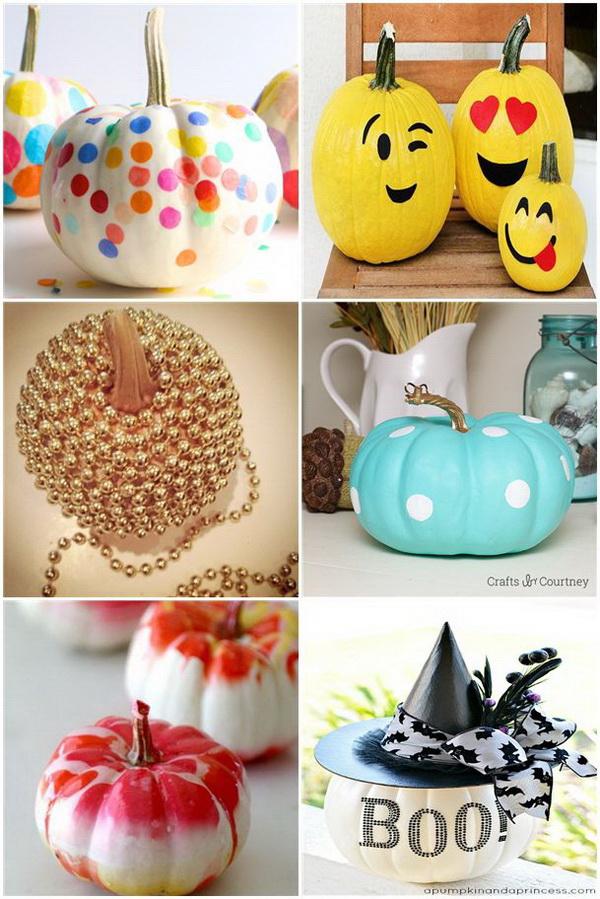 No Carve Pumpkin Decoration Ideas & Tutorials.