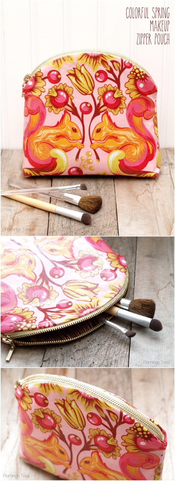Colorful Spring Makeup Zipper Pouch. This makeup bag is super easy to work with and every mon will love this gift.