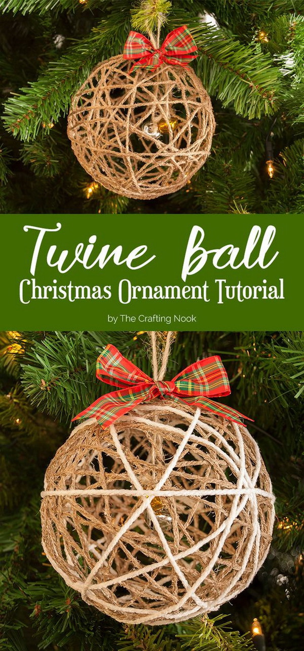 30 amazing diy rustic christmas decoration ideas for Homemade tree decorations