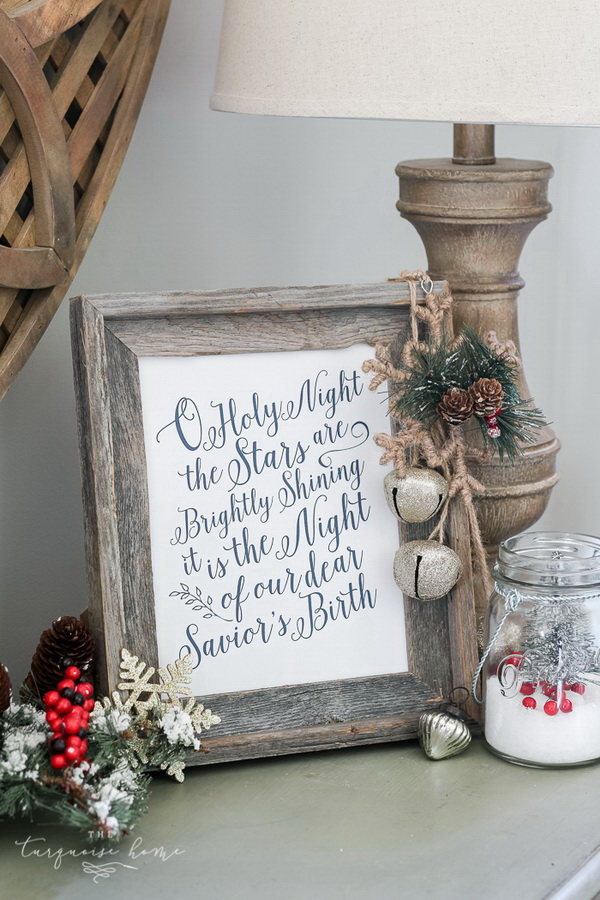 O Holy Night Canvas Art with Free Printable.