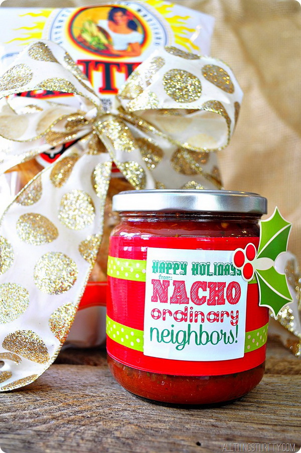Nacho Ordinary Neighbors. Quick and Inexpensive Christmas Gift Ideas for Neighbors