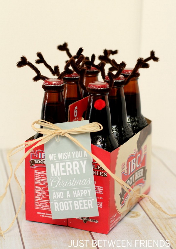 "Happy ""Root Beer"". Quick and Inexpensive Christmas Gift Ideas for Neighbors"