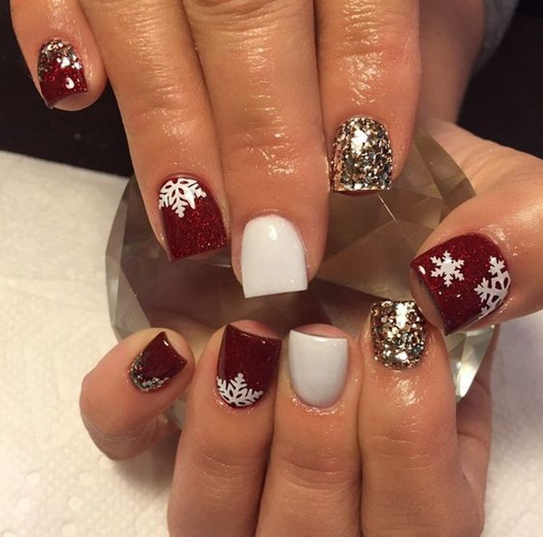65+ Festive Nail Art Ideas for Christmas - Listing More on spa ideas, tree ideas, room ideas, male ideas, style ideas, long ideas, pedicure ideas, night ideas, wall ideas, love ideas, teen art ideas, rubber band ideas, makeup ideas, easy toenail ideas, refinishing ideas, polish ideas, fingernail ideas, food ideas, heart ideas, tattoo ideas,