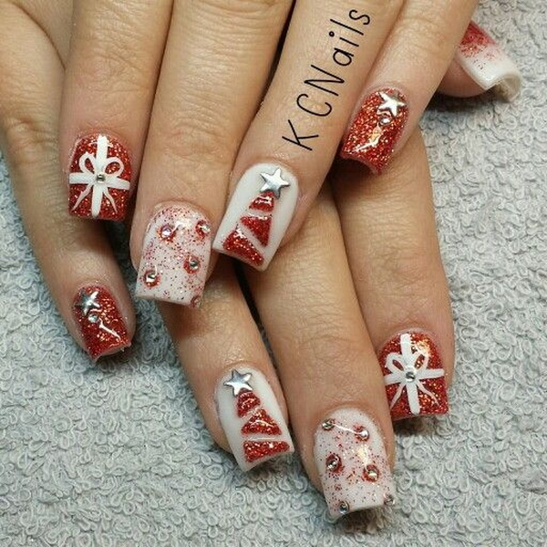 65+ Festive Nail Art Ideas for Christmas - Listing More