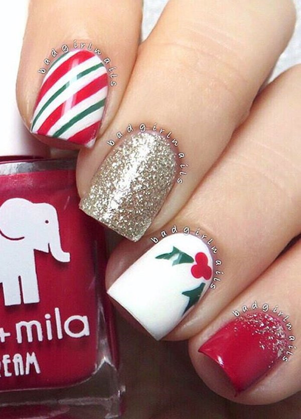 Art Designs: 65+ Festive Nail Art Ideas For Christmas