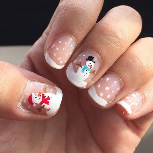 65 festive nail art ideas for christmas listing more 65 festive christmas nail art designs prinsesfo Images