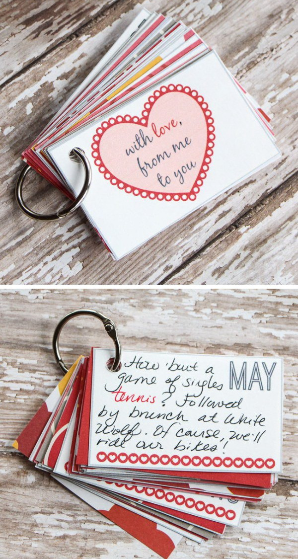Card Making Ideas For Boyfriend Part - 23: 12 Months Of Pre-Planned Date Nights Gift Cards