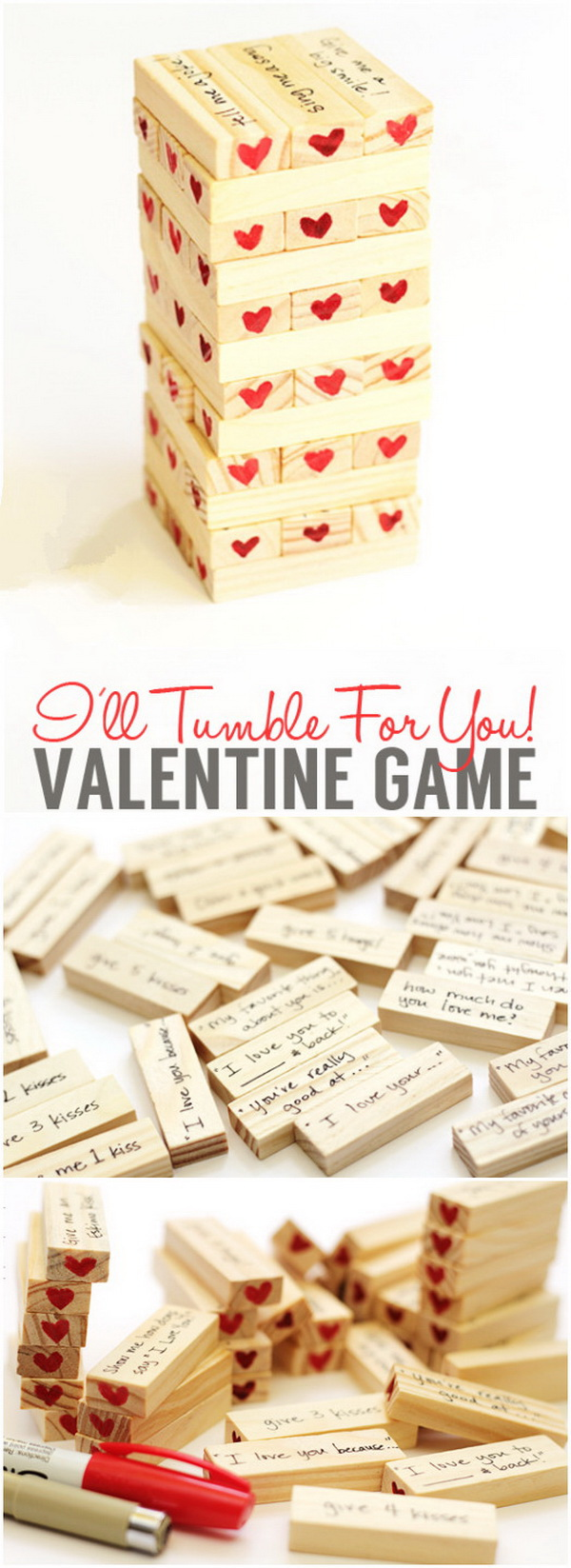 Valentine's Day Hearty Tumble Game. Another fun gift idea for your Valentine's Day!