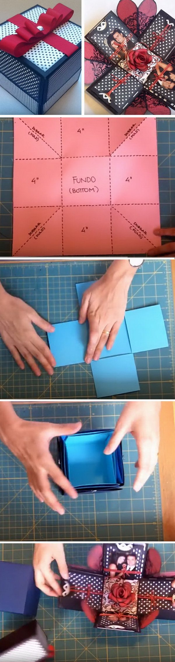 Easy diy valentines day gifts for boyfriend listing more diy explosion gift box solutioingenieria