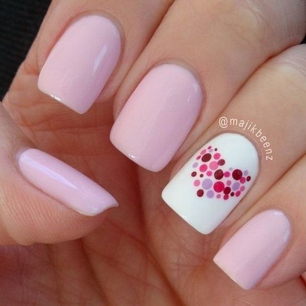Romantic Valentine's Day Nail Art Ideas & Designs! - 70+ Romantic Valentine's Day Nail Art Ideas - Listing More