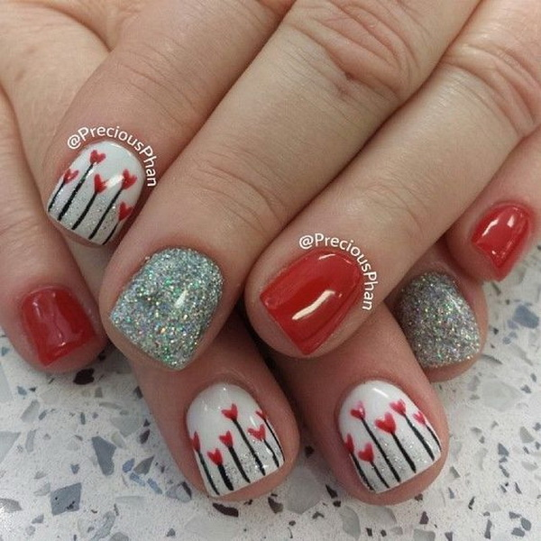 Nail Art Valentines: 70+ Romantic Valentine's Day Nail Art Ideas