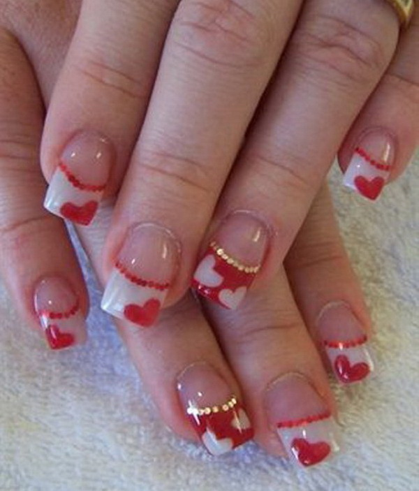 70+ Romantic Valentine\'s Day Nail Art Ideas - Listing More