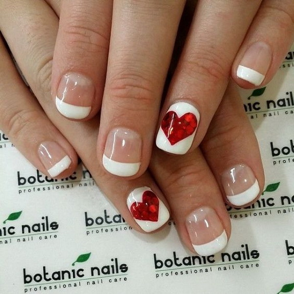 romantic valentines day nail art ideas designs - Valentines Nail