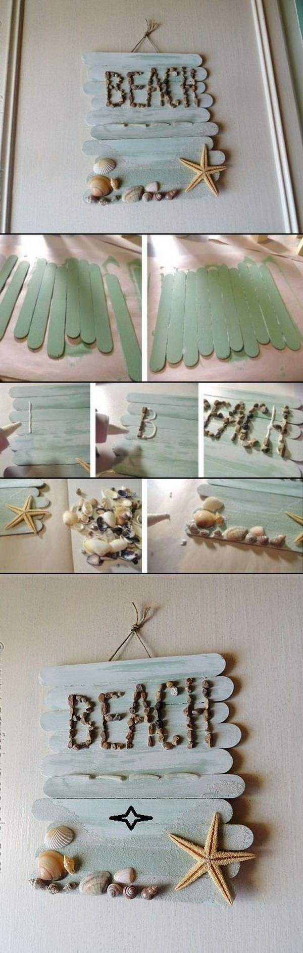 DIY Craft Stick Wall Art.