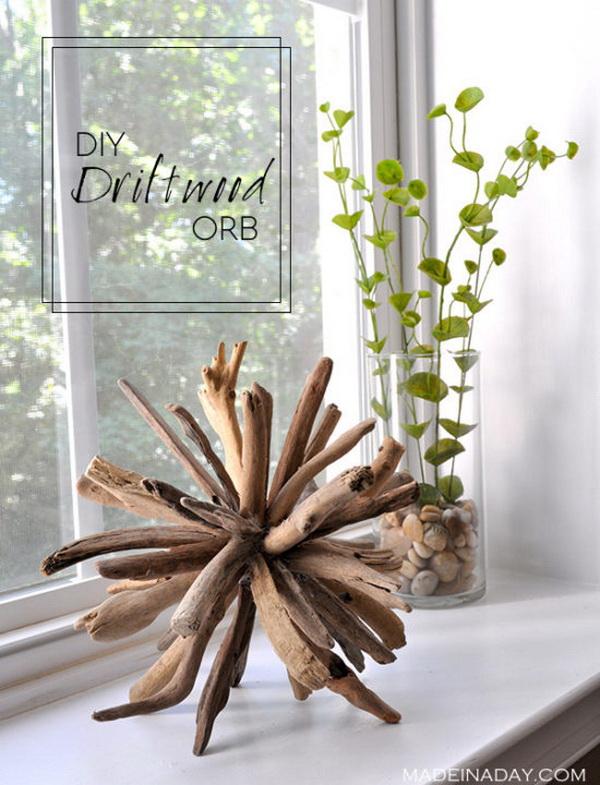 DIY Driftwood Orb.
